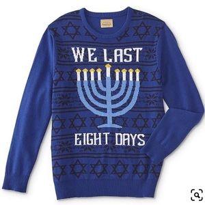 Hanukkah Sweater Battery LED We Last Eight Days